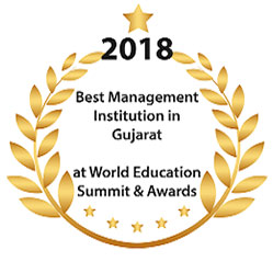 NBS MBA PGDM College 2018 Award for Best Management Institute in Gujarat by Word Education
